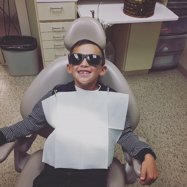 Kid at dentist